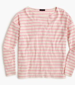jcrew pink striped shirt
